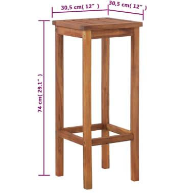 vidaXL Outdoor Bar Chairs 2 pcs Solid Acacia Wood[9/9]