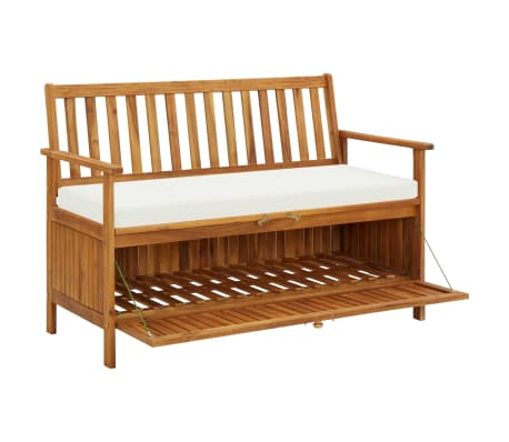 "vidaXL Storage Bench Acacia Wood 47.2""x24.8""x33.1""[3/6]"