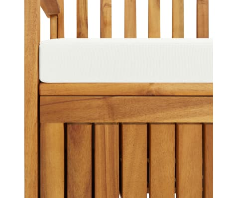 "vidaXL Garden Storage Bench Solid Acacia Wood 47.2""x24.8""x33.1""[6/6]"