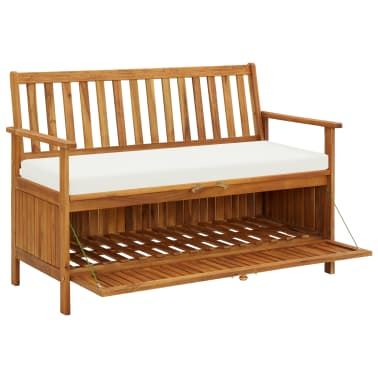 "vidaXL Garden Storage Bench Solid Acacia Wood 47.2""x24.8""x33.1""[3/6]"