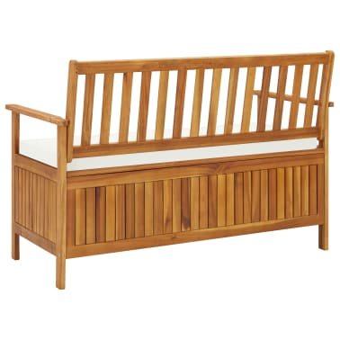 "vidaXL Garden Storage Bench Solid Acacia Wood 47.2""x24.8""x33.1""[5/6]"