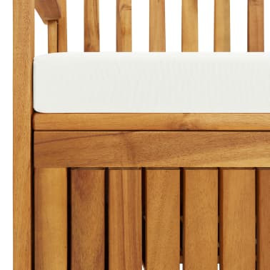 "vidaXL Storage Bench Acacia Wood 47.2""x24.8""x33.1""[6/6]"