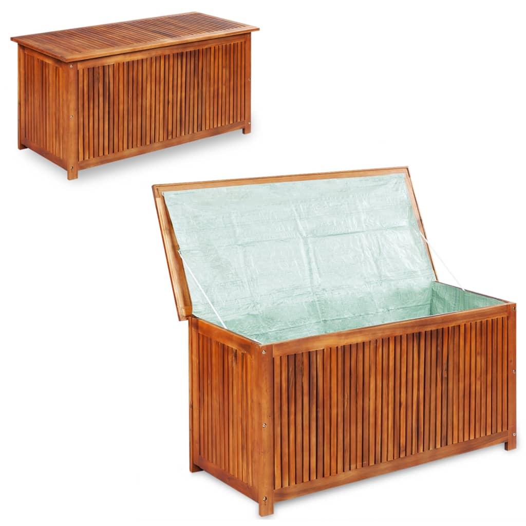 vidaXL Venkovní úložný box z masivního akáciového dřeva 117x50x58 cm