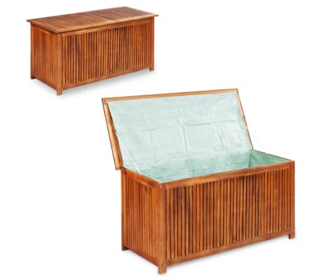 "vidaXL Outdoor Storage Box Solid Acacia Wood 46.1""x19.7""x22.8""[1/4]"