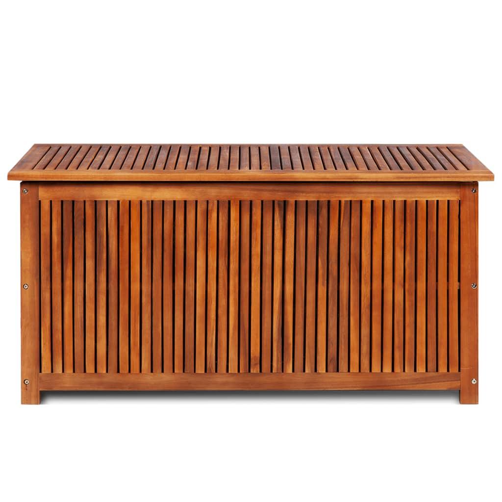 9944127 Garten-Aufbewahrungsbox Massives Akazienholz 117 x 50 x 58 cm