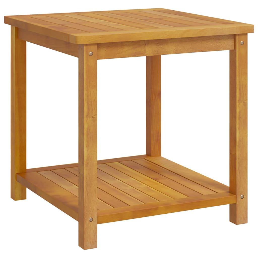 vidaXL Stolik boczny z litego drewna akacjowego, 45 x 45 x 45 cm