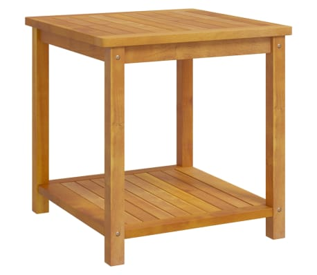 "vidaXL Side Table Solid Acacia Wood 17.7""x17.7""x17.7""[1/4]"