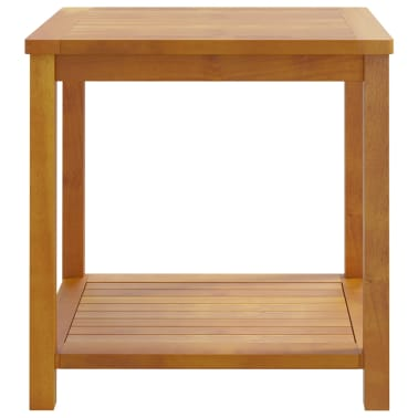 "vidaXL Side Table Solid Acacia Wood 17.7""x17.7""x17.7""[2/4]"