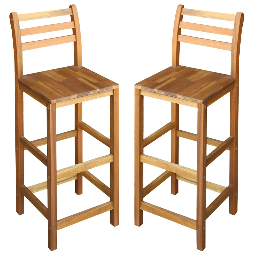 vidaXL Καρέκλες Μπαρ 2 τεμ. 42 x 36 x 110 εκ. από Μασίφ Ξύλο Ακακίας