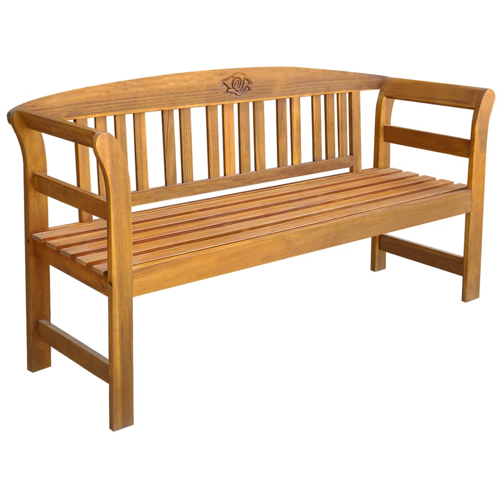 vidaXL Bancă de grădină, 157 cm, lemn masiv de acacia poza 2021 vidaXL
