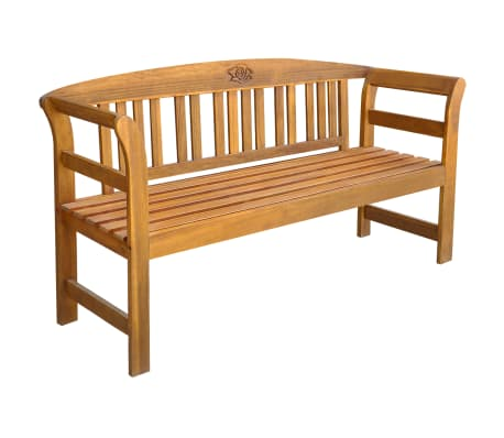 vidaXL Garden Bench 157 cm Solid Acacia Wood-picture