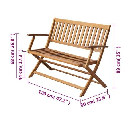 Acheter vidaXL Banc de jardin 120 cm Bois d\'acacia solide pas cher ...