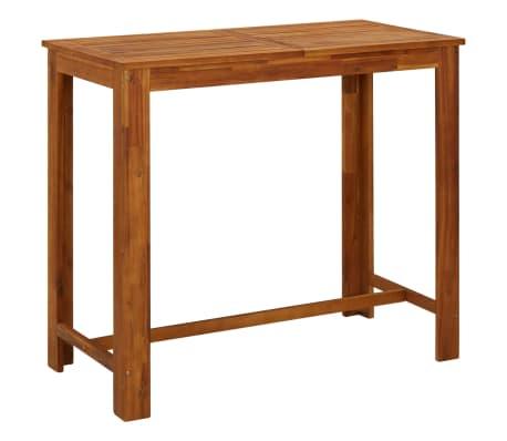 vidaXL Barový stolík, akáciový masív 120x60x105 cm