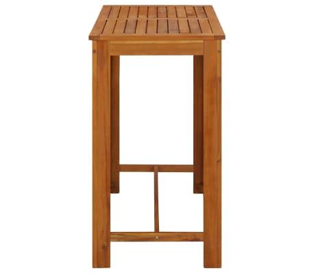 vidaXL Baro stalas, masyvi akacijos mediena, 120x60x105cm[3/4]