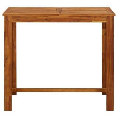 vidaXL Baro stalas, masyvi akacijos mediena, 120x60x105cm[2/4]