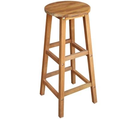 vidaXL Stolik i stołki barowe, 3 elementy, lite drewno akacjowe[3/6]