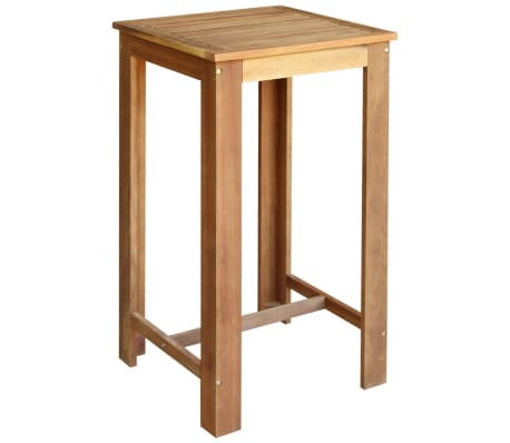 vidaXL Baro stalo ir kėdžių komplektas, 3d., masyvi akacijos mediena[2/6]