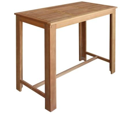 vidaXL Baro stalo ir taburečių komplektas, 5d., akacijos mediena[2/6]