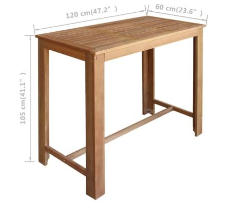 vidaXL Baro stalo ir taburečių komplektas, 5d., akacijos mediena[5/6]