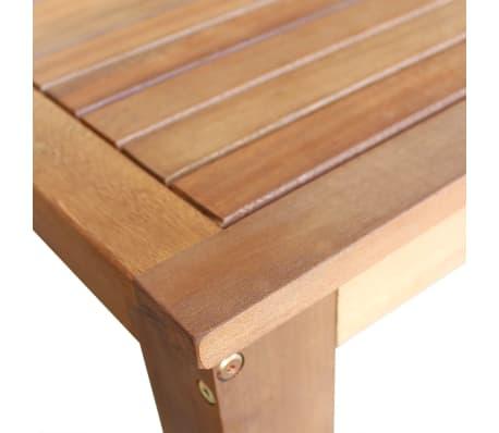 vidaXL Barový stůl a stoličky z masivního akáciového dřeva sada 7 ks[4/6]