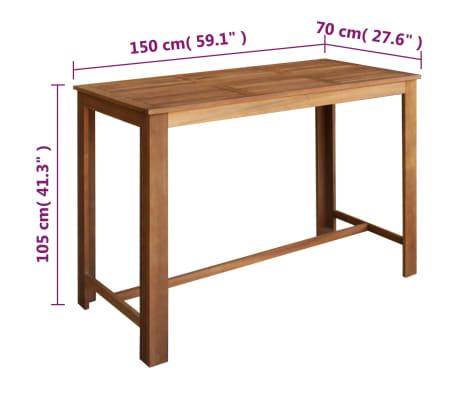 vidaxl bartisch und hocker set 7 tlg massives akazienholz g nstig kaufen. Black Bedroom Furniture Sets. Home Design Ideas