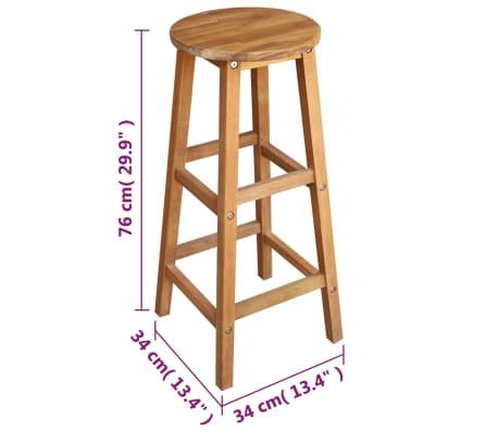 vidaXL Barový stůl a stoličky z masivního akáciového dřeva sada 7 ks[6/6]