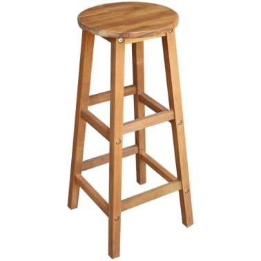 vidaXL Barový stůl a stoličky z masivního akáciového dřeva sada 7 ks[3/6]