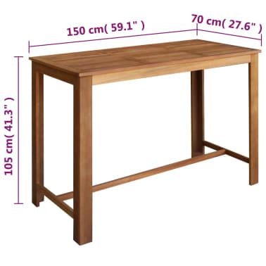 vidaXL Barový stůl a stoličky z masivního akáciového dřeva sada 7 ks[5/6]
