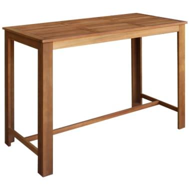 vidaXL Baro stalo ir kėdžių kompl., 7d., masyvi akacijos mediena[2/6]