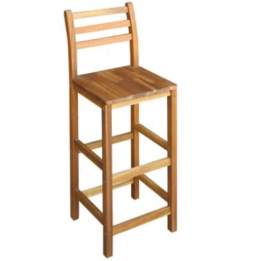 vidaXL Baro stalo ir kėdžių kompl., 7d., masyvi akacijos mediena[3/6]