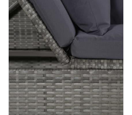 vidaXL Garten-Sofabett Poly Rattan 200 x 60 x 58 cm Grau[4/5]