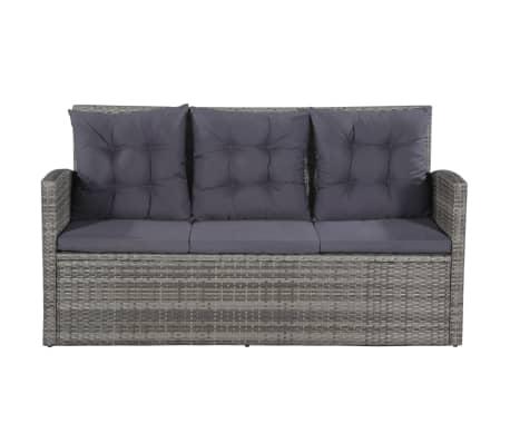 acheter vidaxl ensemble de canap d 39 ext rieur 18 pcs r sine tress e gris pas cher. Black Bedroom Furniture Sets. Home Design Ideas