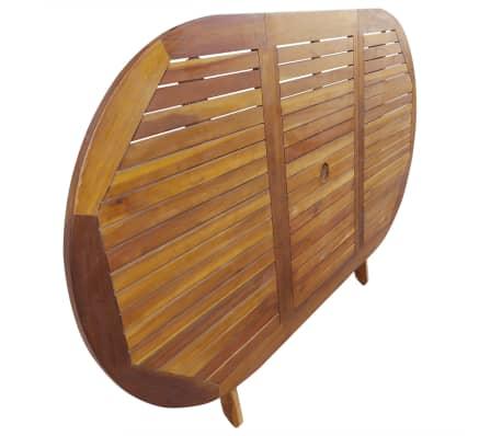 vidaXL 7 Piece Folding Outdoor Dining Set Solid Eucalyptus Wood[4/8]