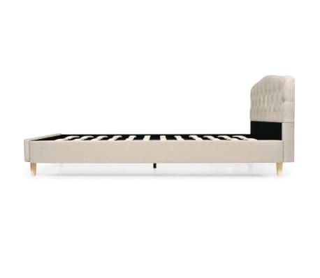 vidaXL Bett mit Matratze 140 x 200 cm Textilgewebe Beige[5/13]