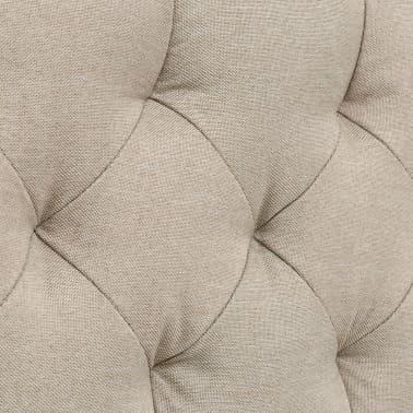 vidaXL Bett mit Matratze 140 x 200 cm Textilgewebe Beige[7/13]