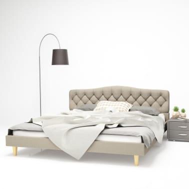 vidaXL Bett mit Matratze 180 x 200 cm Stoff Beige | vidaXL.de
