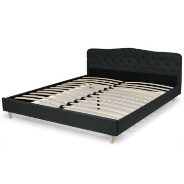 vidaXL Lit avec matelas 180 x 200 cm Tissu Gris foncé[3/13]