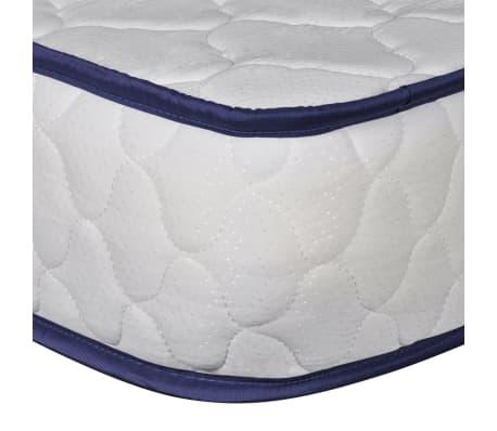vidaXL Bett mit Memory-Schaum-Matratze 140 x 200 cm Textilgewebe Beige[13/15]