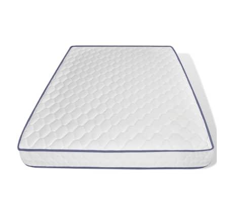 vidaXL Bett mit Memory-Schaum-Matratze 140 x 200 cm Textilgewebe Beige[10/15]