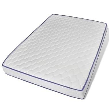 vidaXL Bett mit Memory-Schaum-Matratze 140 x 200 cm Textilgewebe Beige[9/15]