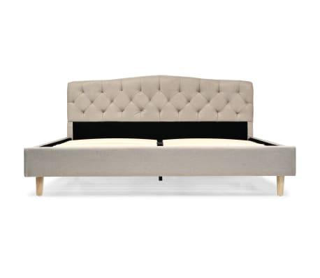 vidaXL Bett mit Memory-Schaum-Matratze 160 x 200 cm Stoff Beige[4/15]