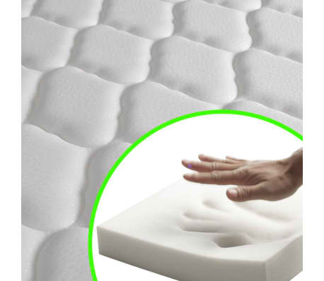 vidaXL Bett mit Memory-Schaum-Matratze 160 x 200 cm Stoff Beige[11/15]