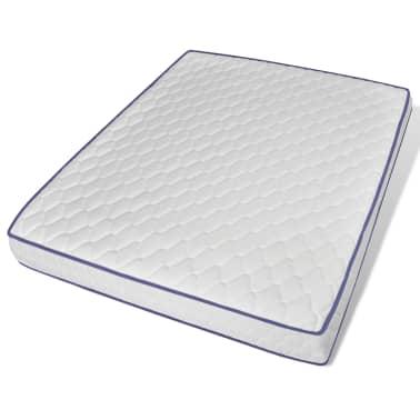 vidaXL Bett mit Memory-Schaum-Matratze 160 x 200 cm Stoff Beige[9/15]
