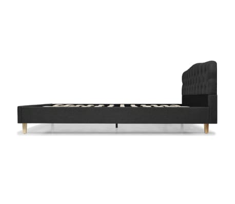 vidaXL Bett mit Memory-Schaum-Matratze 160 x 200 cm Stoff Dunkelgrau[5/15]