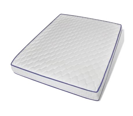 vidaXL Bett mit Memory-Schaum-Matratze 160 x 200 cm Stoff Dunkelgrau[9/15]
