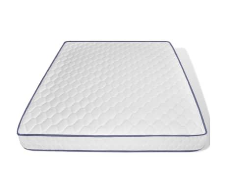 vidaXL Bett mit Memory-Schaum-Matratze 160 x 200 cm Stoff Dunkelgrau[10/15]