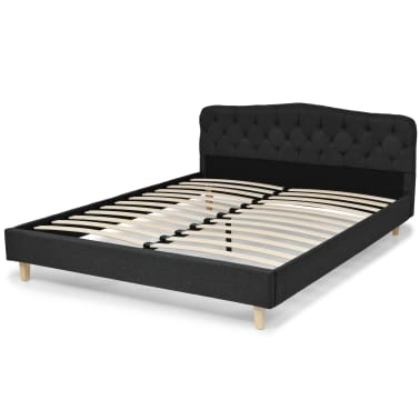 vidaXL Bett mit Memory-Schaum-Matratze 160 x 200 cm Stoff Dunkelgrau[3/15]