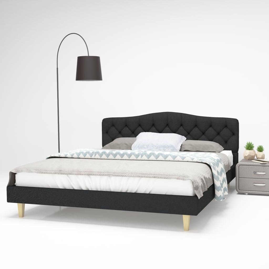 vidaXL Postel s matrací z paměťové pěny 160 x 200 cm textil tmavě šedá