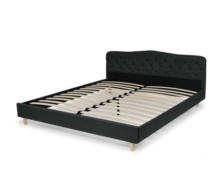 vidaXL Bett mit Memory-Schaum-Matratze 180 x 200 cm Stoff Dunkelgrau[3/15]