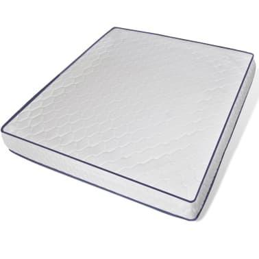 vidaXL Bett mit Memory-Schaum-Matratze 180 x 200 cm Stoff Dunkelgrau[9/15]